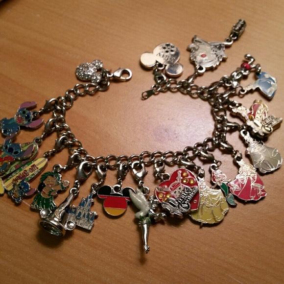 88e0f9f27de46 Disney World official charm bracelet